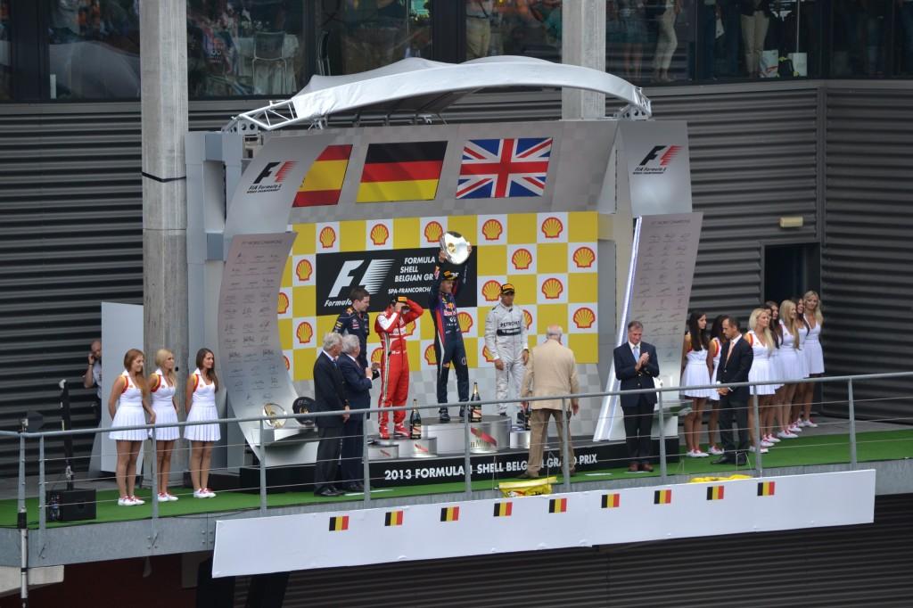 Podium F1 Belgique