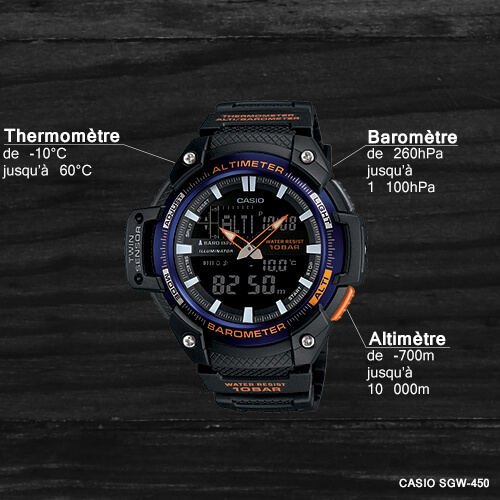 les nouvelles montres casio sgw 450 pas ch res avec altim tre barom tre et thermom tre. Black Bedroom Furniture Sets. Home Design Ideas